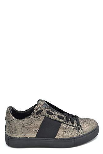 508990bf4718 Stokton Women s Mcbi37155 Black Leather Sneakers