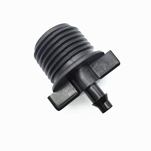 8 Stück 1/2 Zoll Thread zu 4mm Barb Fittings Bewässerung Switch Connector Joint Garden Micro Bewässerungsteile X-over Für 4/7mm Schlauch -