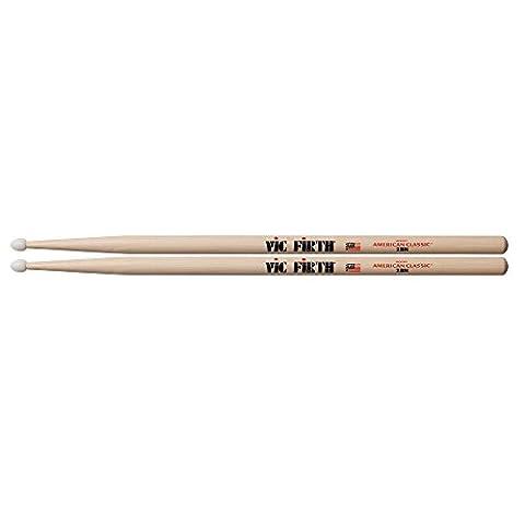 Vic Firth Drumsticks 2B (Hickory, Nylonkopf) (Hickory 5a Nylon Tip)