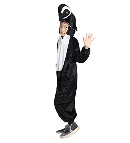 Ikumaal Pinguin-Kostüm, AN76, Gr. 110-116, für Kinder, Pinguin-Kostüme Pinguine für Fasching Karneval, Klein-Kinder Karnevalskostüme, Kinder-Faschingskostüme, Geburtstags-Geschenk Weihnachts-Geschenk