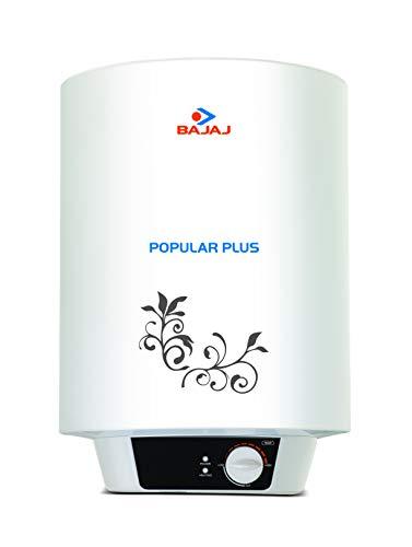 Bajaj Popular Plus 25-Litre Vertical Storage Water Heater (White)