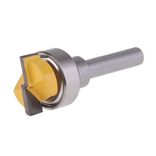 PETSOLA 5 Typen 1/4 '' Schaftoberlagerbündige Trimmmuster Fräser Fräswerkzeuge - Flush Trim Router 60 mm -