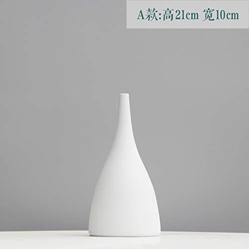 ZXZMONG Deko Skulpturen Statue Figur Vasen Vase Dekoration Wohnzimmer Blume Anordnung Keramik Kleine Blume Getrocknete Blume Dekoration Tischvase Tv Schrank Schmuck, A 21 * 10 cm -