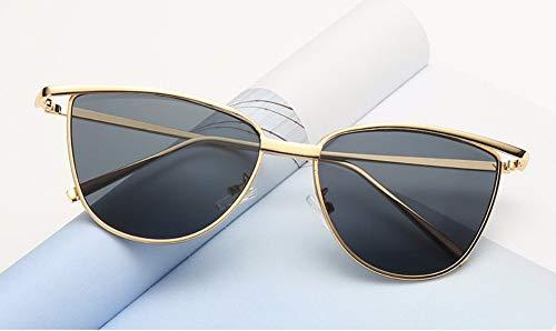WSKPE Sonnenbrille Cat Eye Rote Sonnenbrille Damen Schattierungen Getönte Farbe Objektiv Damenbrillen-Etui Gelbe Sonnenbrille Uv400 Graue Linse