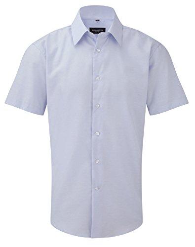 Russell Collection Herren Freizeit-Hemd Blau Oxford-Blau