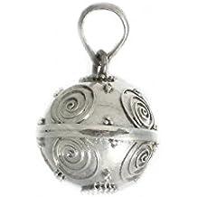 Llamador plata ley 925m de ángeles cerrado diametro de 14mm [AB0541]