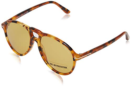 Tom Ford Unisex-Erwachsene FT0645 55E 57 Sonnenbrille, Braun (Avana Colorata/Marrone),