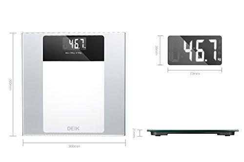Bilancia Pesapersone Digitale Display Retroilluminato Metro e Batterie AAA