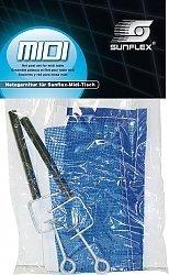 MIDI TT-Netzgarnitur sunflex MIDI, Ersatznetzgarnitur speziell für sunflex MIDI-Tisch, in Plastikverpackung.