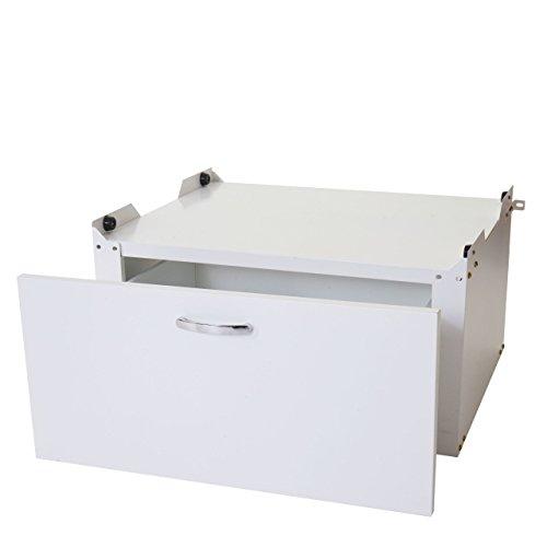 Mendler Waschmaschinenunterschrank Austin T852, Sockel Podest Erhöhung Untergestell, Schublade 33x61x52cm