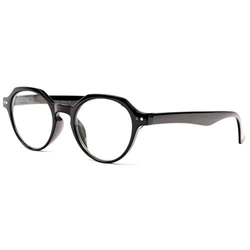 New Time Damen Brillengestell Schwarz Dioptrie 3,5