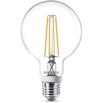 Philips - Bombilla LED globo E27, 7 W, equivalente a 50 W, blanco cálido, 806 lúmenes, regulable