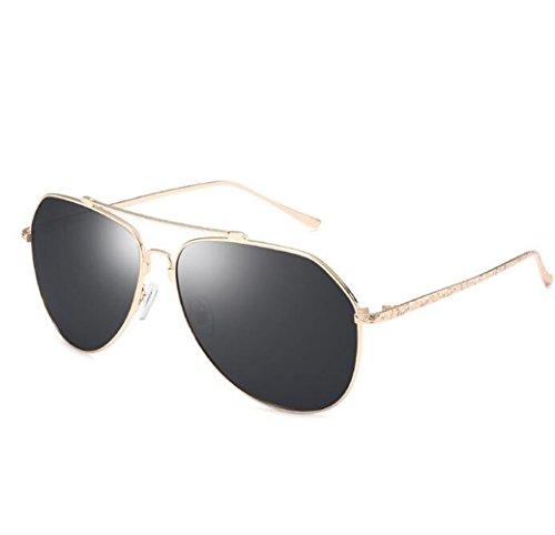 SHULING Sonnenbrille Offset Optische Sonnenbrille Rückspiegel Männer Kröte Spiegel Dunkle Brille, Box Kim/Schwarz Grau Film