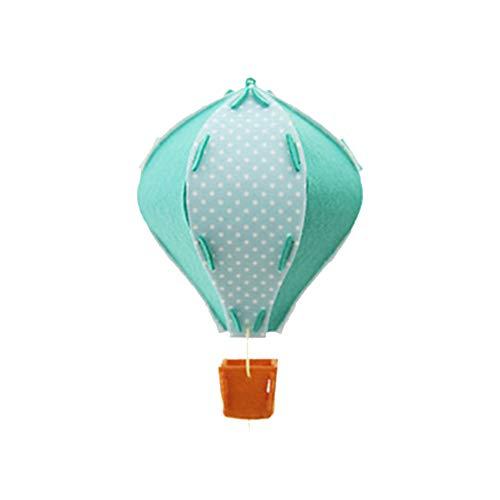 3D-Heißluft-Ballon-Geburtstags-Party-Dekorationen Decke hängt Garland für Kinderklassenzimmer-Babyparty-Dekoration Ornament Grün 1 Stück