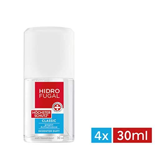Hidrofugal Classic Höchster Schutz, Anti-Transpirant mit dezentem Duft, Anti-Perspirant für extra starken Schutz gegen Schweiß, 4er-Pack (4 x 30 ml) -