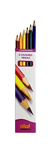West Design Produkte, Buntstifte Box (Pack von 6)