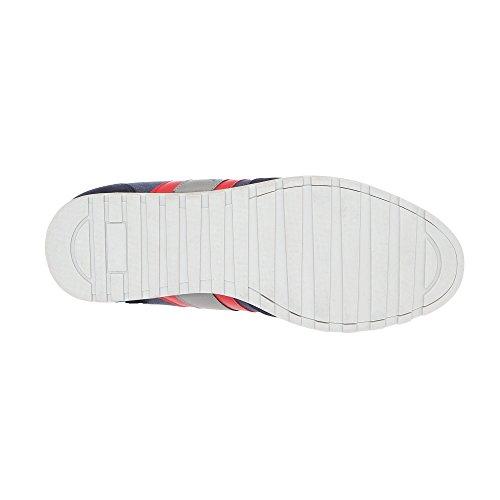 RIFLE Sneakers da Uomo, scarpa stringata 171M11727 KIT Blu scuro