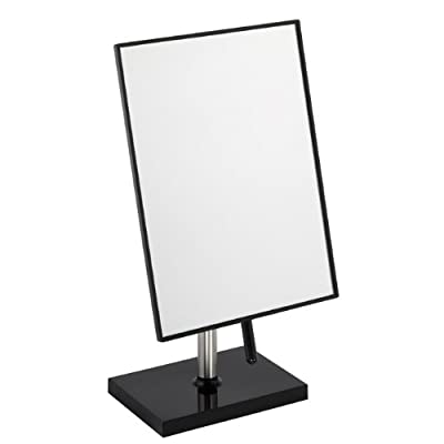 Free Standing Bathroom or Dressing Table Mirror 22cm x 16cm Black produced by FMG - quick delivery from UK.