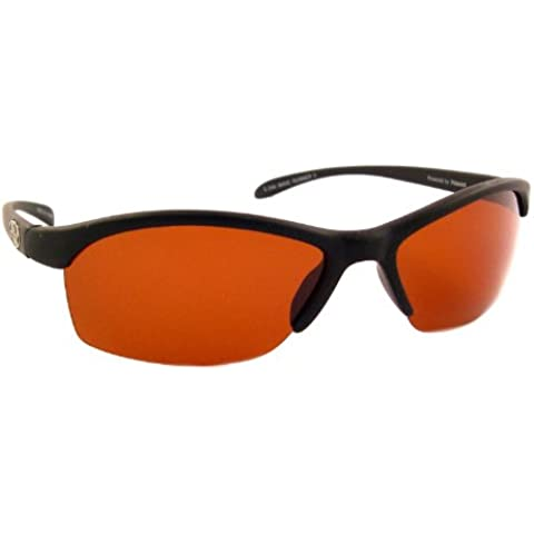 Sea Striker Wave Runner Polarised Sunglasses with Black Frame and Vermillion Lens (Fits Medium to (Black Frame Vermillion Lens)