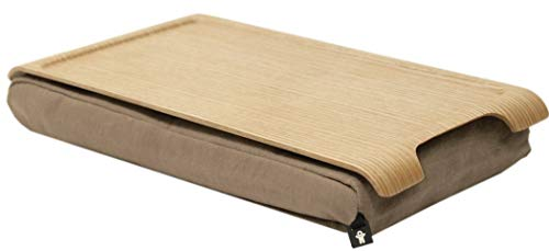 Bosign - Knietablett - Mini Laptray - Laptop-Kissen - Natur-Weide - 43 x 23 x 6,5 cm -