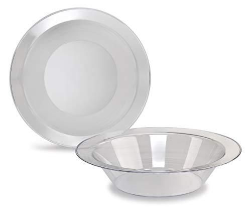 Crystal Collection Einwegteller aus Kunststoff, 40 Stück Soup Bowl farblos China Soup Bowl
