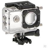 ELECTROPRIME 2x Waterproof Sports & Action Camera Bundle Housing For SJCAM SJ4000