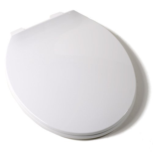 Comfort Seats C1B3R300 Deluxe Plastic Contemporary Toilet Seat, Round, White by Comfort Seats