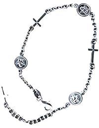 Taipan Rosario Pulsera de abalorios de ángel cruz religiöser joyas pulsera de plata mujer mujeres 17