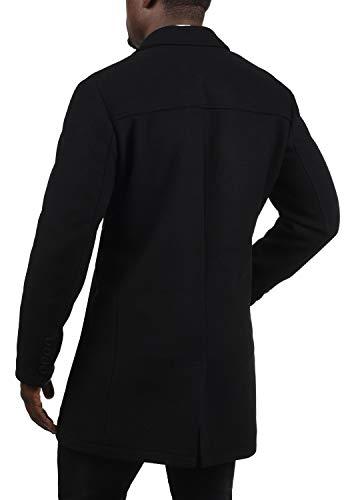 !Solid Harvey Herren Winter Mantel Wollmantel Lange Winterjacke mit Doppelreihiger Knopfleiste, Größe:M, Farbe:Black (9000) - 4
