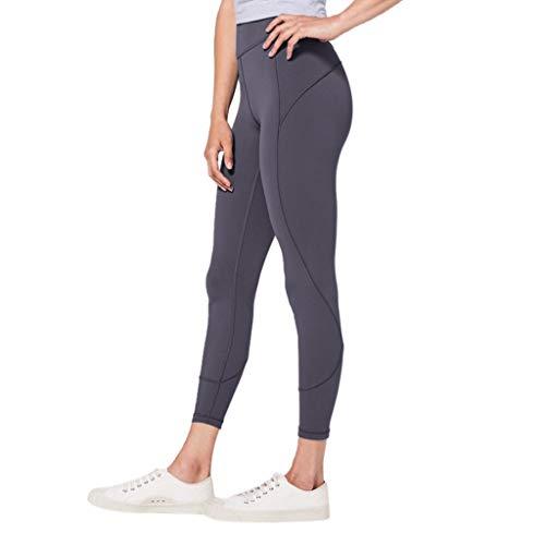Nylon Running Strumpfhose (Sonnena Sporthose Damen High Waist Blinkdicht Sport Leggings Elastische Tummy Control Yogahose Lange Laufhose Trainingslaufsport Hosen)