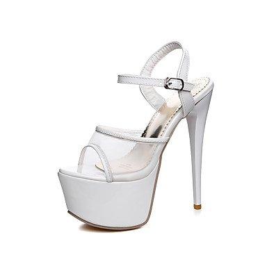 LvYuan Da donna-Sandali-Matrimonio Formale Serata e festa-Comoda Cinturino alla caviglia-A stiletto-Tulle PU (Poliuretano)-Nero Rosso Bianco Black