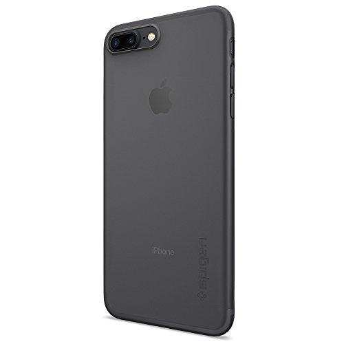 iPhone 7 Plus Hülle, Spigen® [Air Skin] UltraSlim [Schwarz] Dünn Federleicht FeinMatt Handyhülle / Lichtdurchlässig Semi-Transparent Maßgeschneiderte Form & Perfekter Sitz Hardcase / Passgenau Premium Schutzhülle für iPhone 7 Plus Case, iPhone 7 Plus Cover - Black (043CS20870)