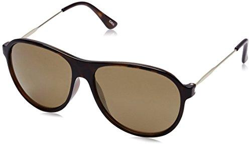 Idee Mirrored Aviator Unisex Sunglasses - (IDS1958C7SG|57|Gold Mirror lens) image