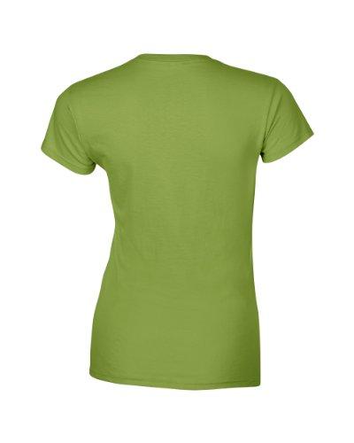 Gildan SoftStyle T-Shirt pour femme à anneaux - 25 couleurs et Tailles S-XXL Kiwi