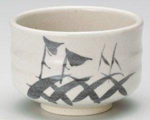 Japanische shino-yaki Keramik Matcha Schale-Weiß Glasur-von World Keramik 414-265 -
