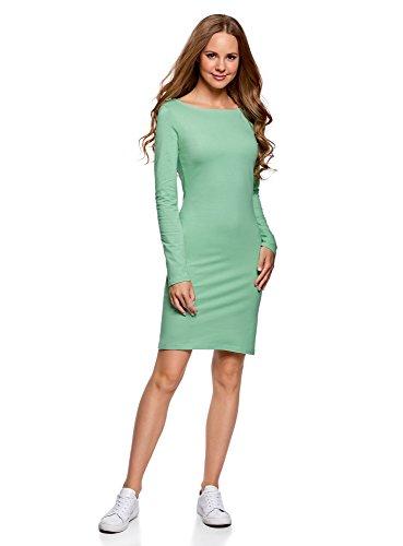 oodji Ultra Damen Enges Jersey-Kleid Grün (6500N)