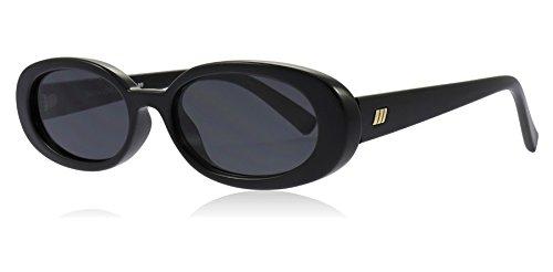 Le Specs Outta Love Oval Frame Acetate Sonnenbrille uni Schwarz