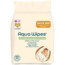 Toallitas húmedas Aqua Wipes, (Bolsa de 4 x 64 paquetes de toallitas húmedas (