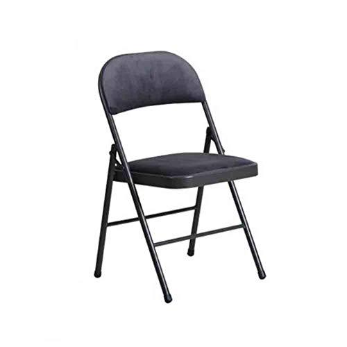 WGXX Klappstuhl Klappstuhl, Home Dining Stuhl Rückenlehne Stuhl Computer Bürostuhl, Stahlrahmen...