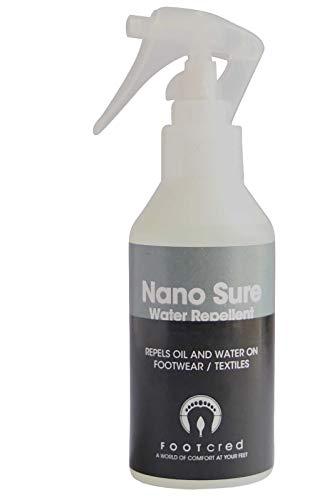 Spray hidrofóbico de revestimiento repelente al agua Nano Sure de Footcred, zapatos impermeables, 125 ml