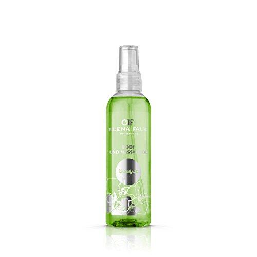 Elena Falk Kosmetik - Body und Massage Öl Grapefruit - Massageöle für den Stressabbau guten Schlaf für Entspannung, Beauty, Wellness, Schönheit, Pflegeöl, Hautöl 200 ml -