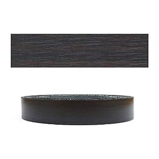 Mprofi (20 m roll) melamine edge band, Eicher, black, pore 22 mm 6232220