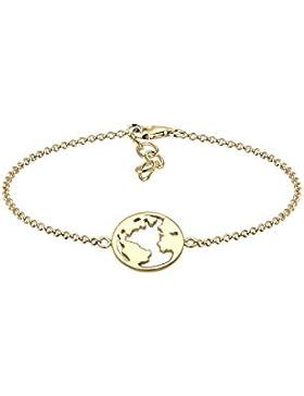 Elli Damen-Armband Weltkugel 925 Silber 16 cm - 0202572317_16