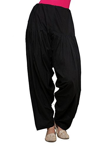 Kalpit Creations Women's Patiala Bottoms(kalpit_semi-patiyala _Black_Free Size)