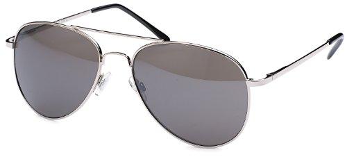 Retro Sonnenbrille Pilotenbrille mit dunklen Gläsern Metallrahmen Brillentrends + Brillenbeutel