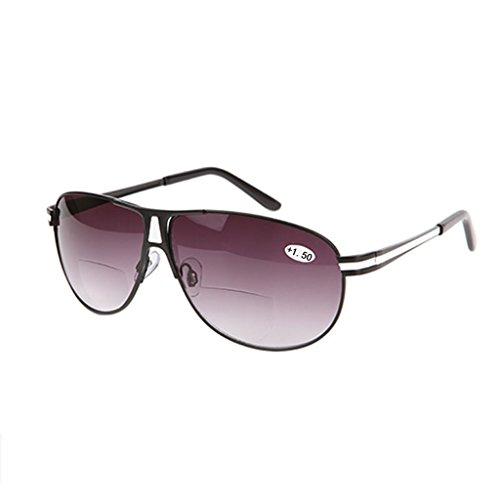 Chaunce Gute Qualität Vintage Klassisch Bifokalbrille Sonnenbrille Lesebrille Reading Glasses Presbyopie Brille für Herren Damen Dioptrie +1.0 ~ + 3.5