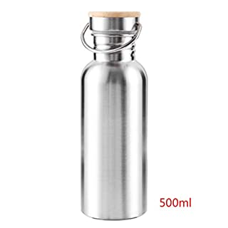 GEZICHTA Stainless Steel Water Bottle - Reusable Wide Mouth Water Jug - 100% Leak Proof, Eco Friendly, BPA Free Safe Water Drinking for Cold/Hot Drinks Prefect for Bike, Camping, Hiking and Gym Sport