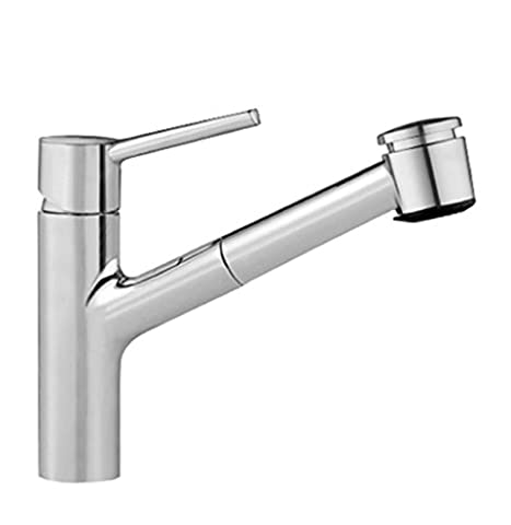 KWC Luna Single-Lever Mixer Tap with Spray Head, Chrome 220 mm Spout Reach