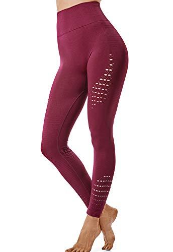 FITTOO Leggings Sin Costuras Mujer Alta Cintura Yoga