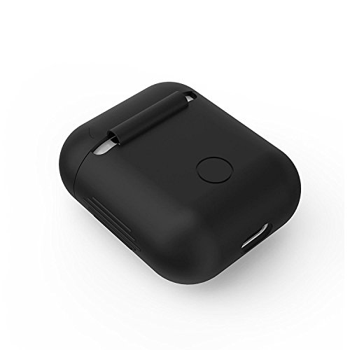 Mstick MS-AIRPOD-CVR-BLK Protective Silicone Cover Case for Apple Airpods (Black) Image 2